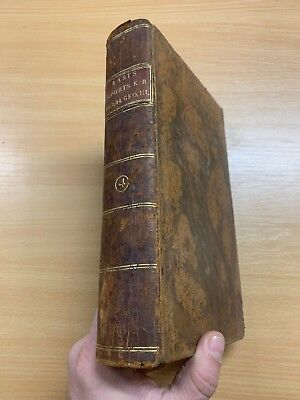 1804 Law Reports Of Cases In Court Kings Bench Large Heavy Leather Marbled Book