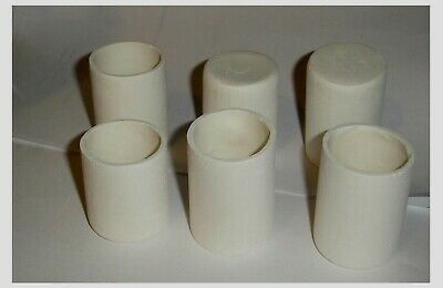 Nice Lot of 6 small  Glass Fusing / draping kiln moldLot of 6  These short and s