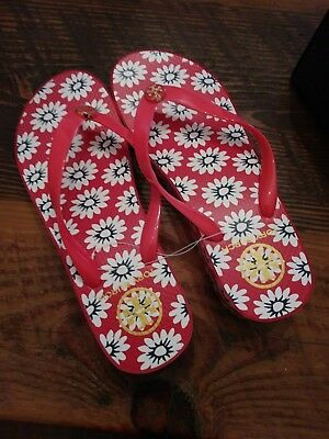 3cd59b257e08d NIB Authentic TORY BURCH Wedge Flip Flop in Nantucket Red Navy Sea SIZE 8  LOOK