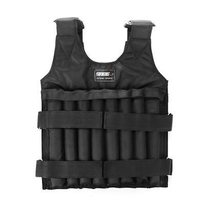 20kg Adjustable Load Weighted Vest Jacket Training Exercise Running Waistcoat UK