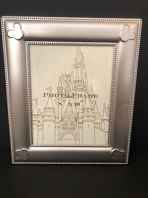 Disney Parks Mickey Mouse Icon Metal Silver Photo Picture Frame 8x10
