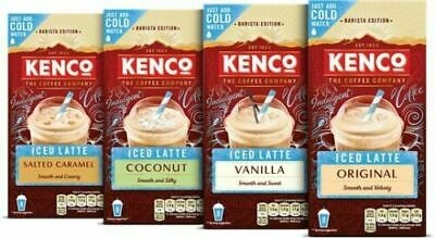 Kenco Iced Latte Salted Caramel Instant Coffee Sachets X 8
