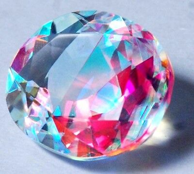 31.15 Ct Natural Rainbow Color Mystic Loose AGSL Certified Quartz AAA+ Gem