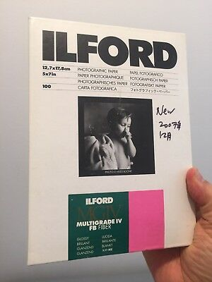 [NEW 2007 Stock!] ILFORD Multigrade IV FB Fiber Glossy 5x7 100 Sheets