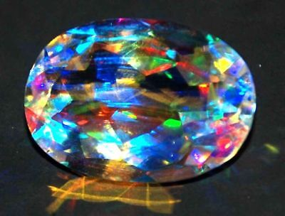29.65 Ct Natural Rainbow Color Mystic Loose AGSL Certified Quartz AAA+ Gem