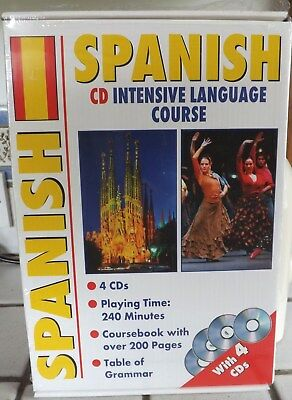 Spanish, Intensive Language Course, 4 x CDs and book.