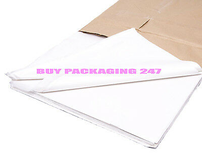 """100 Sheets White Acid Free Tissue Paper 18 x 28"""" Special Price Ideal for Packing"""