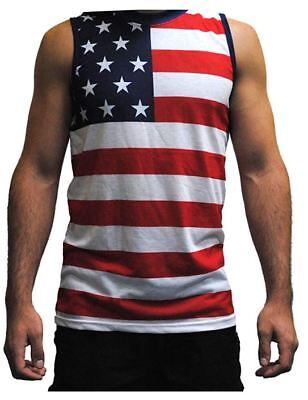 030e77e8b04d5f New Pacific Surf Mens Patriotic American Flag Tank Top Pack of 17 Small  Free S