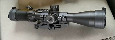 Weaver Kaspa Tactical Rifle Scope 2.5-10x 44mm Mil-Dot Reticle Matte with rail
