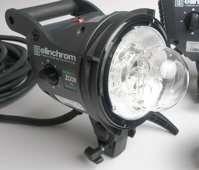 Elinchrom Zoom Pro Flash Head, 3000 ws Exceptional Light with Travel Cap