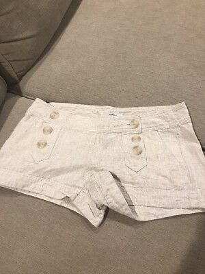 EXPRESS WOMENS Beige SHORTS WITH SAILOR BUTTON FRONT SIZE 6