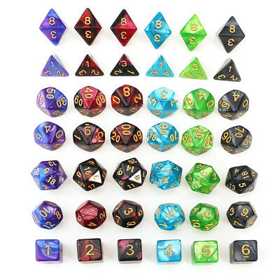 42pcs/Set Polyhedral DND RPG MTG Game Dungeons & Dragons Dice Random Color
