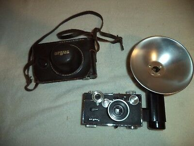 Vintage Argus C-3 with flash