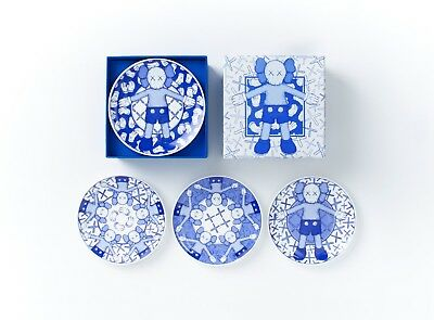 KAWS Holiday Taipei Limited Ceramic Plate Set of 4 Authentic