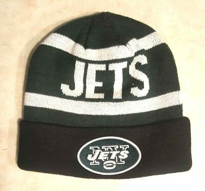 NEW YORK JETS Hat NFL Knit Cap Embroidered Logo Beanie Pom Warm New Sam  Darnold 13ea78a76