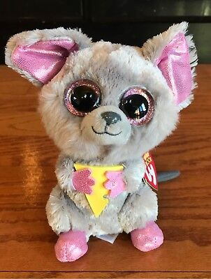 TY BEANIE BOO Squeakers Gray Mouse 6