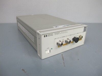 HP Agilent 83446A STM-16/OC-48 Lightwave Clock / Data Receiver S/N US36309213