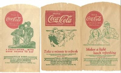 (3) Coca Cola - 'No-Drip Dry Servers' - UNUSED
