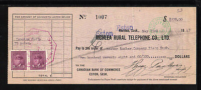 9M1006 - 1947 Eston Rural Telephone Co. - Eston, Saskatchewan
