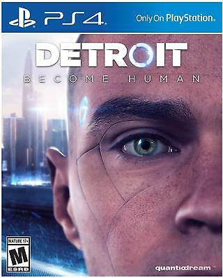 Detroit Become Human PS4 Sony PlayStation 4 Brand New Sealed Free Shipping