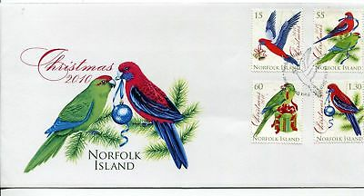 Norfolk Island 2010 Christmas Parrots Birds FDC