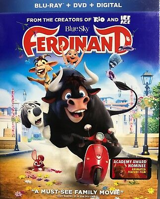 Ferdinand (Blu-ray+ DVD+ Digital), New Sealed With Slip Cover, **free Shipping**