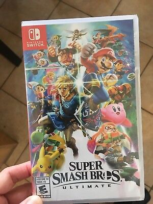 New And Sealed! Super Smash Bros. Ultimate Switch Game