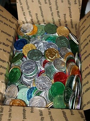 Lot Of 1000 Assorted New Orleans Mardi Gras Doubloons - Free Shipping