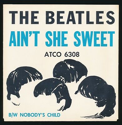 Beatles ORIG 1964 US ATCO RECORDS, ' AIN'T SHE SWEET ' PICTURE SLEEVE NEAR MINT!