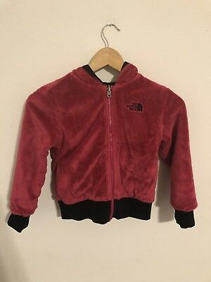 Pink The North Face Reversible 2in1 Girls Kids Jacket Size 6 XS