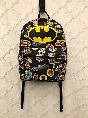 dc040c5929ef NEW! Batman Robin Comic 16   Backpack Superhero Book Bag Tote Full Size  Black