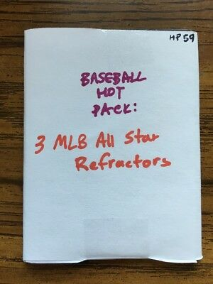 BASEBALL ALLSTAR HOT PACK: 3 Refractors of Former MLB All Stars NO SCRUBS HP59
