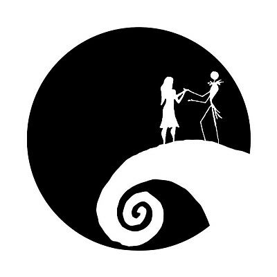 Jack & Sally , Nightmare Before Christmas , Love , In home Wall decal
