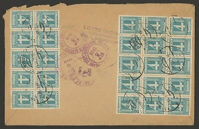 Austria Stamp Scott #306 (x 25) & #314 (x 2) on Cover postmarked 1928