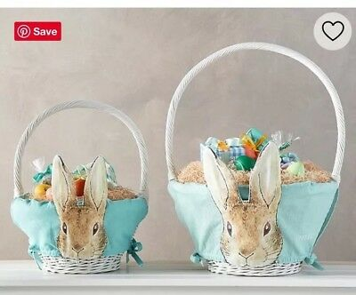 NWT Pottery Barn Kids Small Peter Rabbit Beatrix Potter Easter Basket Liner NEW