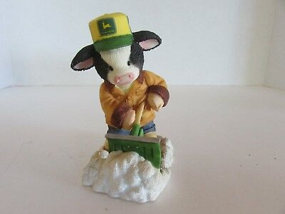 """Lot of 4 vintage Mary Moo Moos """"John Deere"""" Limited Edition hand #'d pieces."""
