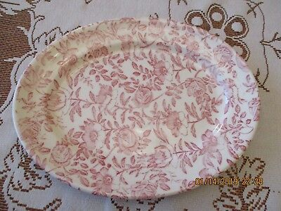 "Churchill Fine China, PLATTER, 12"", Chinz, Pink flowers"