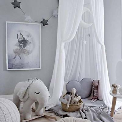 Kids Bed Canopy Hanging Mosquito Net for Baby Crib Nook Castle Tent Room Decor