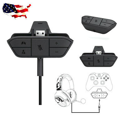 Stereo Headset Adapter Audio Headphone Converter For Xbox One Game Controller