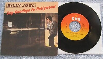 """Billy Joel LIVE  - Say Goodbye.../Summer... -  Dutch Picture Sleeve 45 rpm PS 7"""""""
