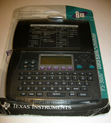 New Texas Instruments PS 3600+ Data Bank Scheduler Organizer 8KB 500 Entry 1995