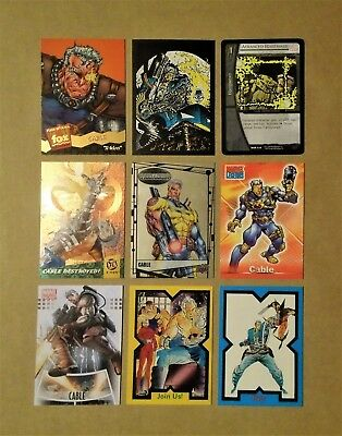 Cable, X-Force, X-Men, Marvel card lot