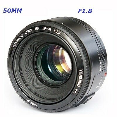 Yongnuo 50MM F1.8 Large Aperture Auto Focus Lens For Canon EF Mount EOS Camera