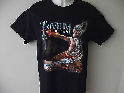 """*New* Official Trivium The Crusade Mens Black T Shirt Size Xl 44"""" Chest"""