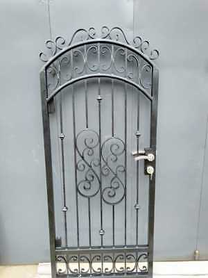 Wrought Iron pedestrian/side gate fit an opning .9 - .95 M  available now