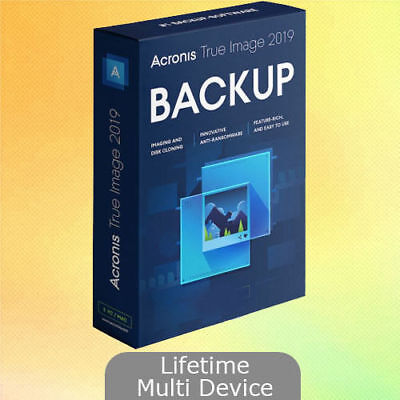 Acronis True Image 2019 Win+ISO Bootable Lifetime Multi Devices Instant Delivery
