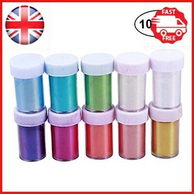 Healifty 10Pcs Makeup Mica Pigments Powder Shimmer Mica Pigment Powder for DIY