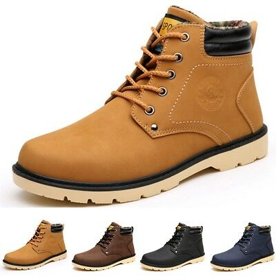 Men's Martin Boots Outdoor Waterproof Leather Lace up Casual Ankle Shoes 6.5-10