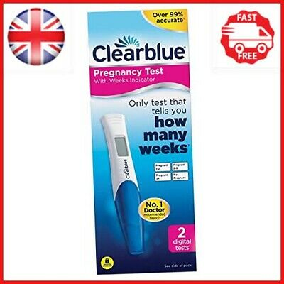 Clearblue Pregnancy Test with Weeks Indicator, Kit of 2 Digital Tests