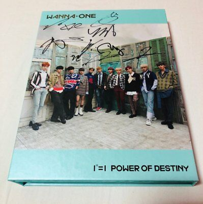 WANNA ONE [POWER OF DESTINY] autographed PROMO CD Album signed